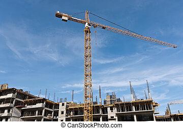 guindaste, local construção