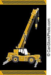guindaste, maquinaria, equipamento, construção