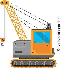 guindaste, vetorial, caminhão, ilustração