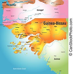 Guinea-Bissau  - Vector color map of Guinea-Bissau country