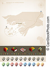 Guinea-Bissau - Republic of Guinea-Bissau and Africa maps,...