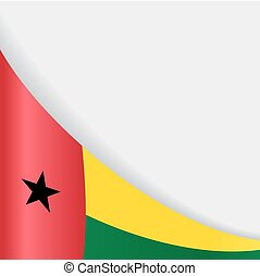 Guinea-Bissau flag background. Vector illustration. -...