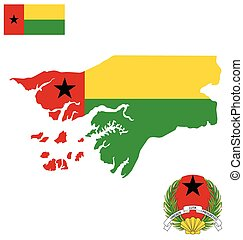 Guinea Bissau Flag - Flag and national coat of arms of the...