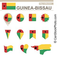 Guinea-Bissau Flag Collection, 12 versions