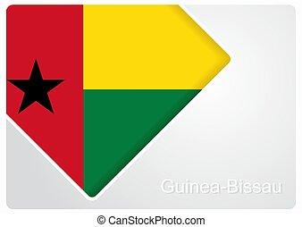 Guinea-Bissau flag design background. Vector illustration...