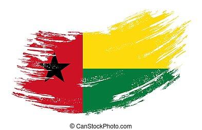 Guinea-Bissau flag grunge brush background. Vector ...