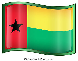 Guinea-Bissau Flag icon.