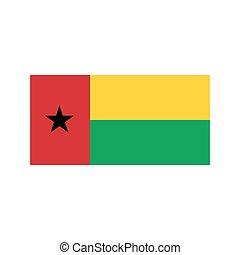 Guinea-Bissau flag illustration - Guinea-Bissau flag on the...