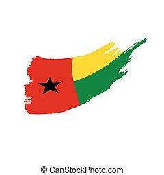Guinea Bissau flag, vector illustration on a white...