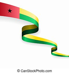 Guinea-Bissau flag wavy abstract background. Vector ...