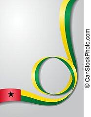 Guinea-Bissau flag wavy background. Vector illustration. -...