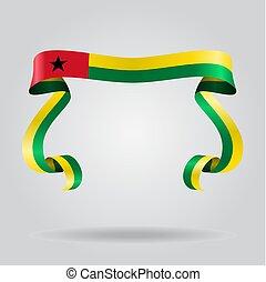 Guinea-Bissau flag wavy ribbon background. Vector ...
