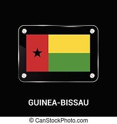 Guinea-Bissau flags design vector