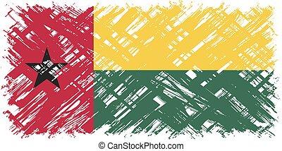 Guinea-Bissau grunge flag. Vector illustration. Grunge...