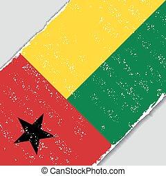 Guinea-Bissau grunge flag. Vector illustration. -...