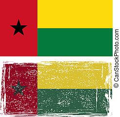 Guinea-Bissau grunge flag. Vector illustration.