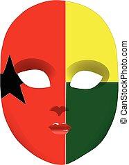 Guinea-Bissau mask - Classic mask with symbols of statehood...