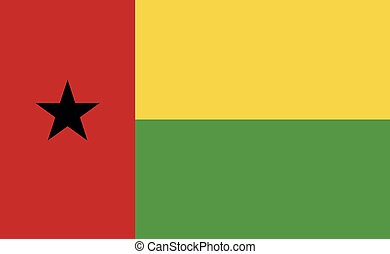 Guinea-Bissau national flag in exact proportions - Vector ...