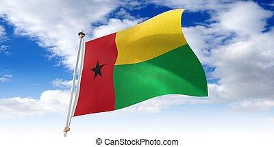 Guinea Bissau - waving flag - 3D illustration