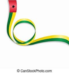 Guinea-Bissau wavy flag background. Vector illustration. -...