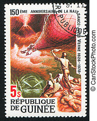 Mysterious Island - GUINEA CIRCA 1979: stamp printed by ...
