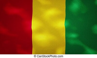 Guinea dense flag fabric wavers, perfect loop for background