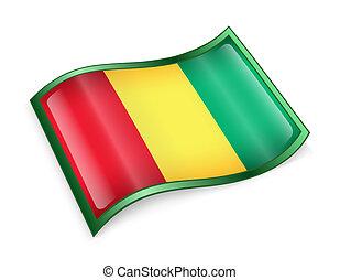 Guinea Flag icon.