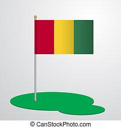 Guinea Flag Pole