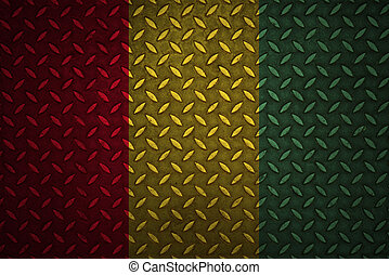 guinea Flag Seamless steel diamond plate