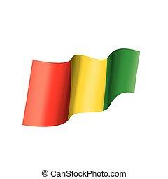 guinea flag, vector illustration