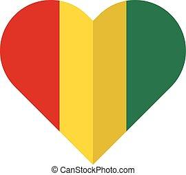 Guinea flat heart flag