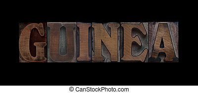Guinea in old wood type
