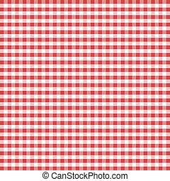 guinga, seamless, patrón, rojo
