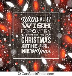 guirlanda, luz, -, ilustração, vetorial, desenho, feriado, tipo, natal