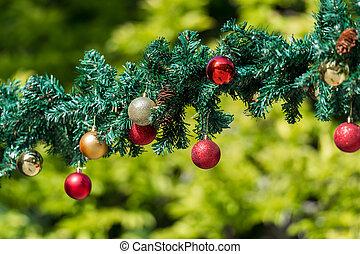 guirlandas, decorações natal
