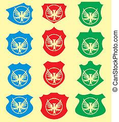 guirnalda, águila, vector, arte, protector