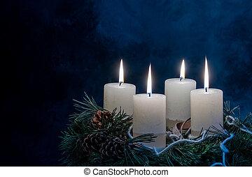 guirnalda, advenimiento, navidad