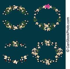 guirnalda floral, conjunto