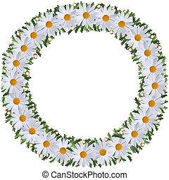guirnalda, flores