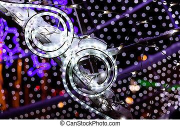 guirnalda, imaginación, confuso, luces, brillante, Plano de fondo, navidad