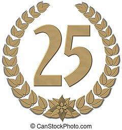 guirnalda laurel, bronce, 25
