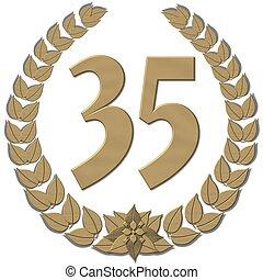 guirnalda laurel, bronce, 35