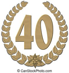guirnalda laurel, bronce, 40
