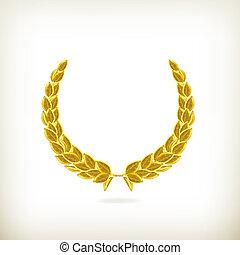guirnalda laurel, premio, vector