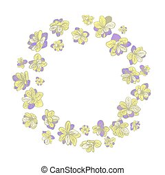 guirnalda, plano de fondo, colorido, floral