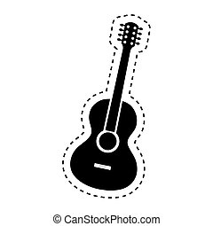 guitar acoustic instrument musical vector illustration...
