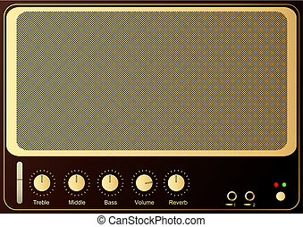 Guitar Amp - Editable vector retro guitar amp background