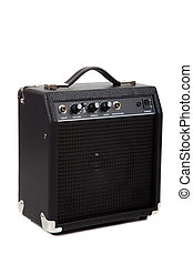 Guitar Amp - A small guitar amplifier on white background