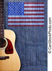 Guitar and flag two