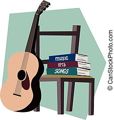 Guitar and music books
